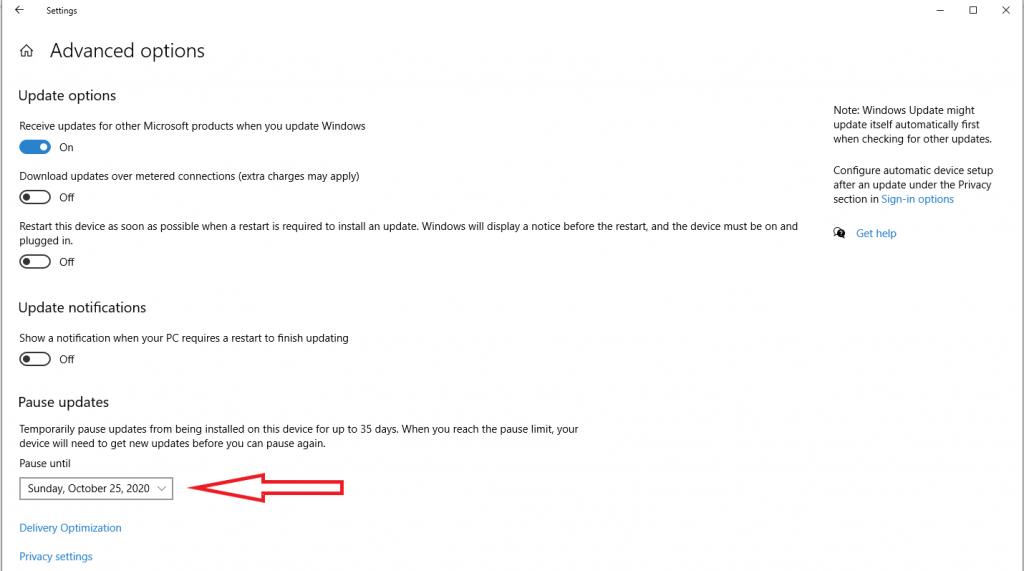 cara menunda windows update