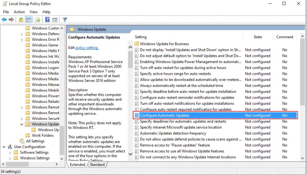 cara mengatur windows update