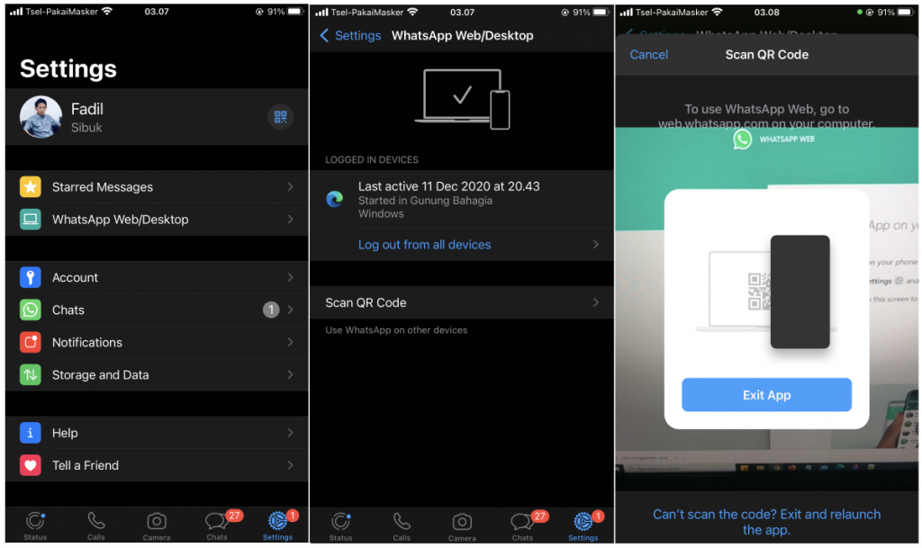 Cara Menggunakan Whatsapp Di Komputer Whatsapp Web Desktop Arenadigital Id