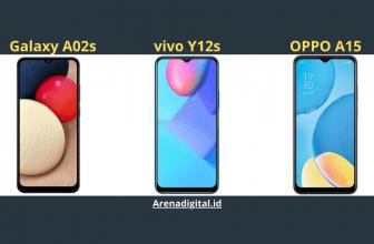 membandingkan Galaxy A02s, vivo y12s, dan OPPO A15