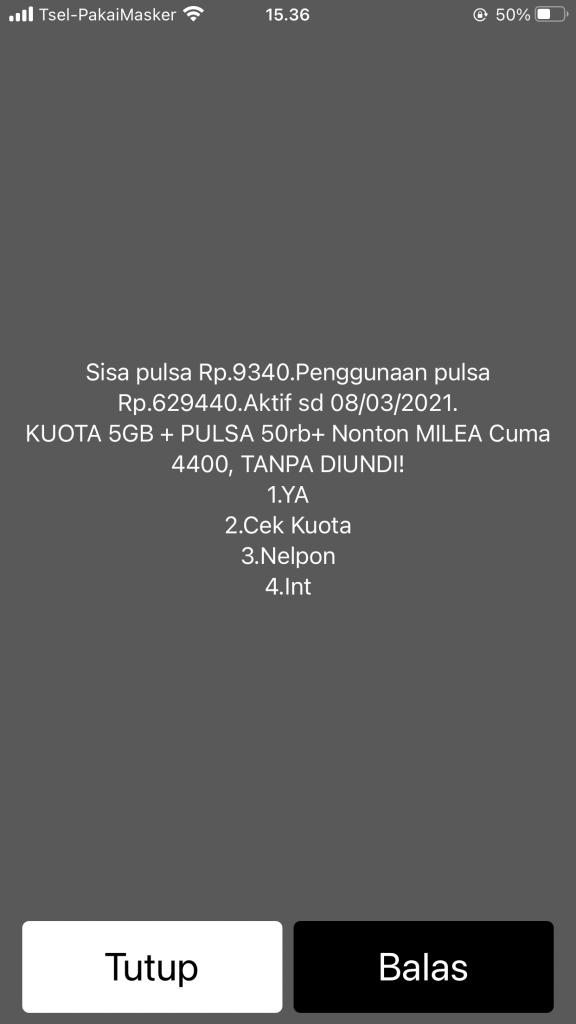 cek pulsa telkomsel 5 Cara Cek Pulsa & Kuota Internet Telkomsel (simPATI / Kartu As / Loop)