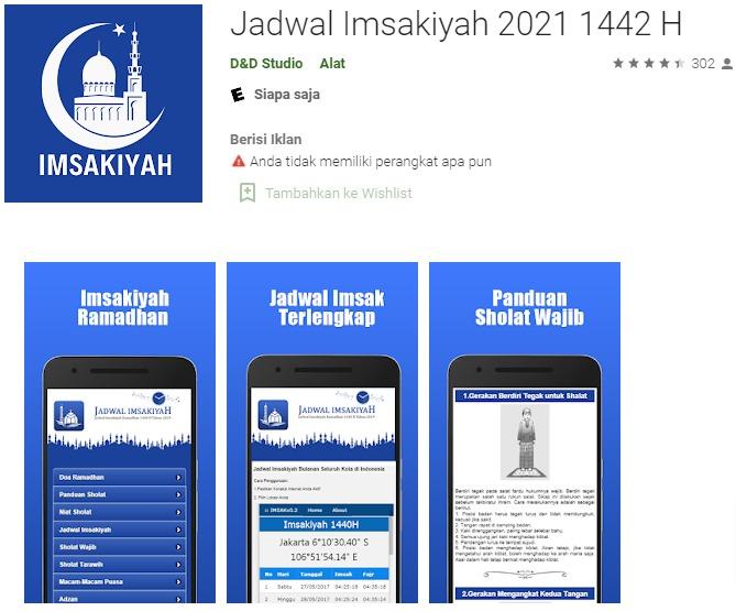 aplikasi jadwa imsak dan buka puasa ramadhan