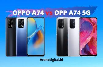 perbedaan Oppo A74 dan Oppo A74 5G