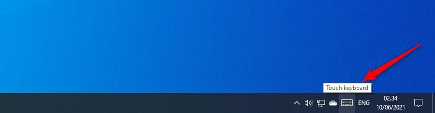 cara menampilkan keyboard di layar Windows 10