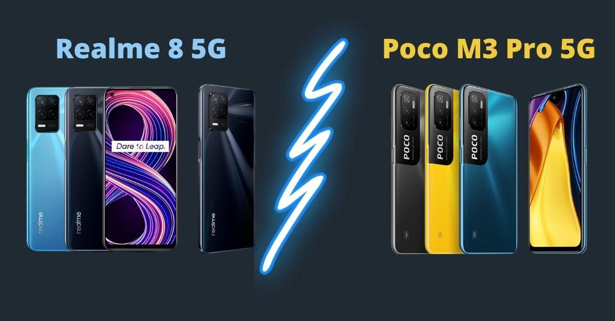 Realme 8 5G vs Poco M3 Pro 5G