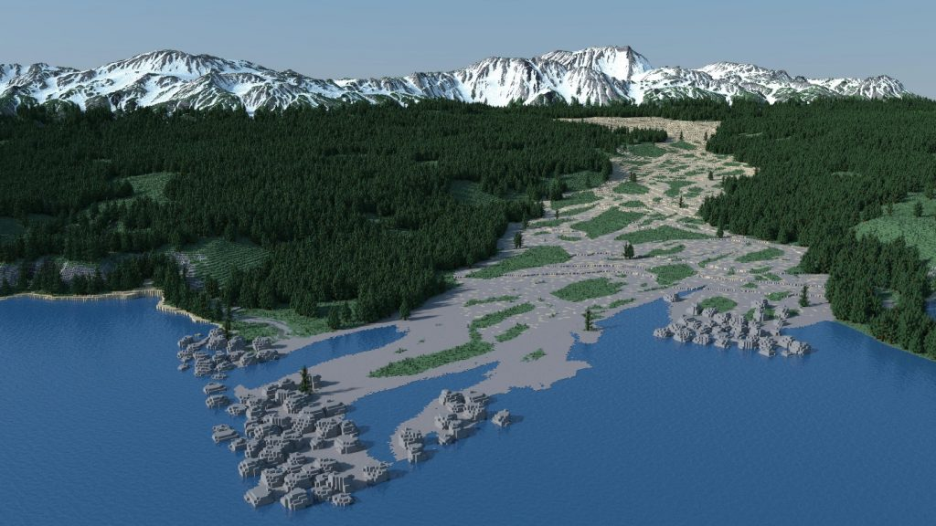 map minecraft realistis